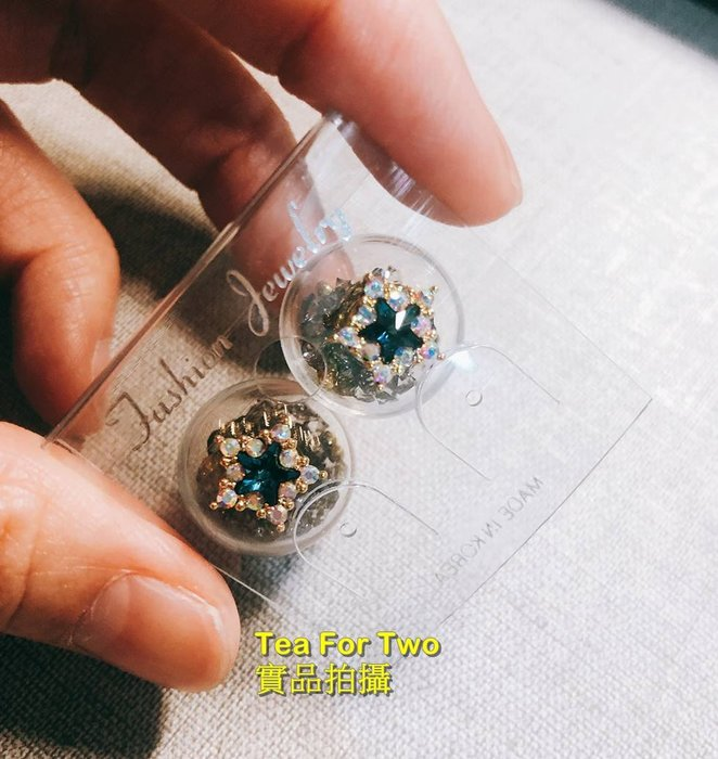 出清特賣,百元系列,韓國正品(現貨NO2)~~黑色+星星鑽,美美耳環
