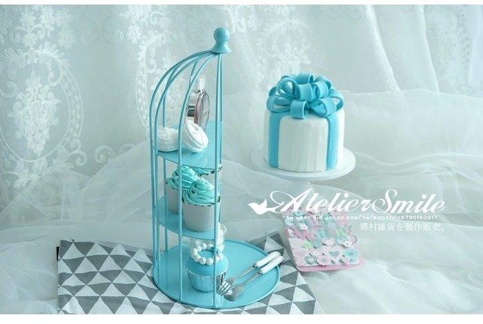 [ Atelier Smile ] 鄉村雜貨 鐵製蛋糕盤 點心架 婚宴陳設 拍照道具 # 鳥籠展示架 (現+預)