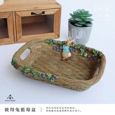 (台中 可愛小舖)彼得兔 藍莓盆 收納盆 糖果水果盆 提把 竹編造形 peter rabbit