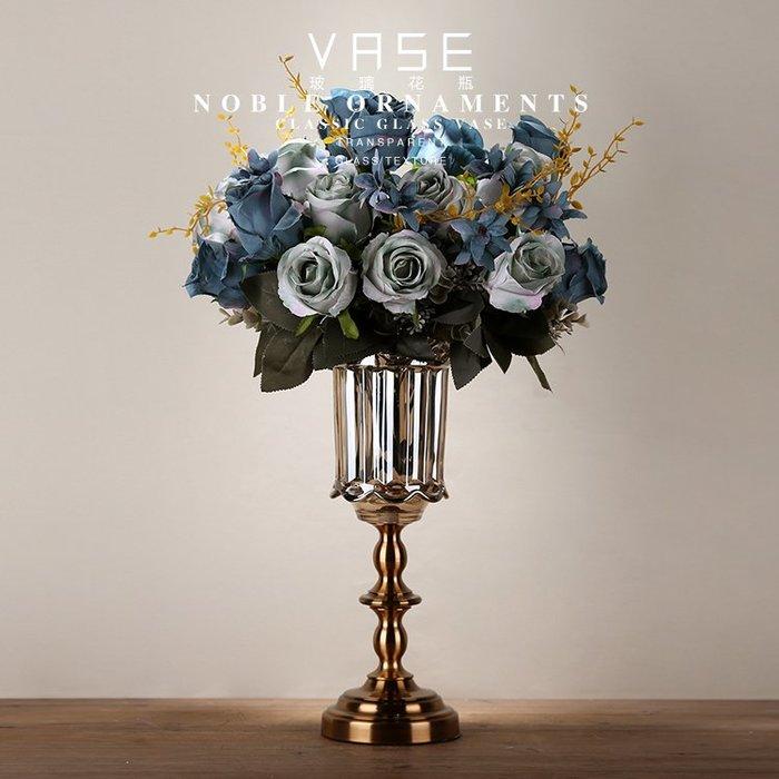 〖洋碼頭〗創意歐式家居透明玻璃仿真花套裝插花瓶客廳電視櫃擺件小清新裝飾 ysh339