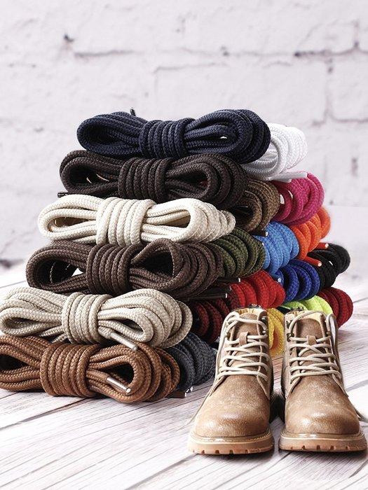 hello小店-3雙工裝運動鞋馬丁靴鞋帶男女皮鞋靴子圓形粗百搭米黑白色鞋繩子#鞋帶#鞋材用品#發光鞋帶#