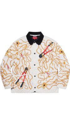xsPC 現貨 2020FW Supreme Chains Quilted Jacket 項鍊外套