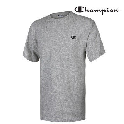 【紐約范特西】2016 美版 Champion Basic Logo 灰色棉質短袖Tee T2226-806