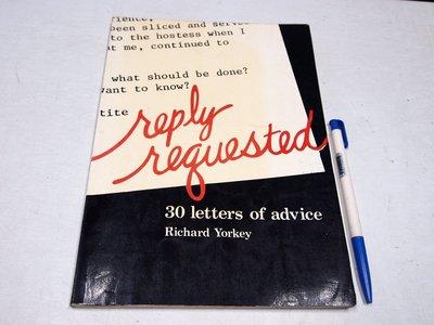 【考試院二手書】《30 letters of advice》│文鶴│Richard Yorkey│七成新(B11R26)