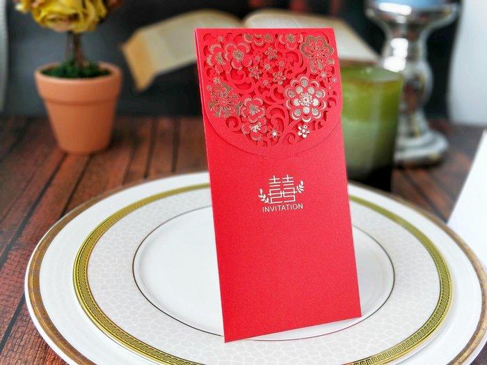 『潘朵菈精緻婚卡』※婚禮紅包袋※高質感雷射雕刻紅包袋※每包5個特價-59元※編號:BG-101
