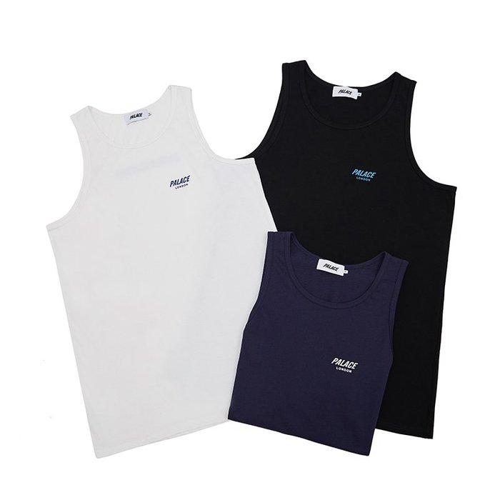 全新商品 Palace Skateboards 18SS TANK TOP 背心 短袖 TEE 黑色 白色 深藍色