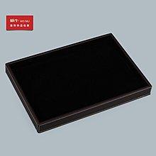 TRUDY日本專櫃大號皮革看貨托盤珠寶玉器空盤黑白兩用內襯平盤散珠展示盤 展架