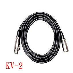 KV-2麥克風線 2.0米 雙卡農頭 MIC線 卡農線 電容麥克風專用網路K歌RC語音送166音效