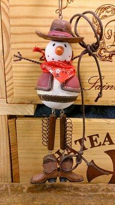 西部牛仔雪人塑像:西部 牛仔 雪人 塑像 擺飾 居家 家飾 吊飾 設計 禮品 手工