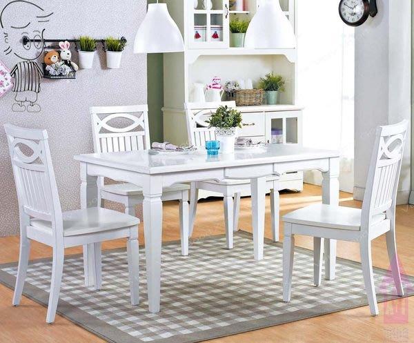 【X+Y時尚精品傢俱】 現代餐桌椅系列-嘉緹 實木純白色餐桌不含餐椅.鄉村風格.摩登傢俱