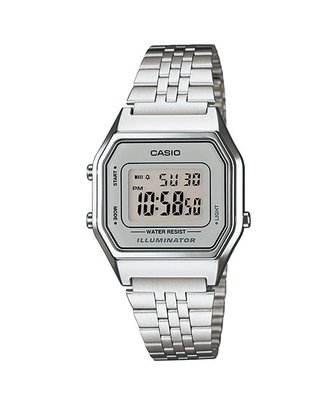 CASIO手錶 經緯度鐘錶 復古數字型電子錶 LED燈光  女款台灣CASIO公司貨【超低價720】LA680WA-7D