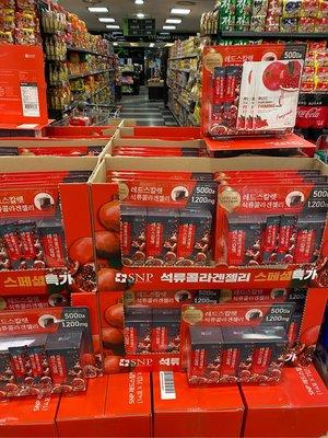 🇰🇷韓國SNP 紅石榴 膠原蛋白 果凍條 42入 特價 賣完為止!