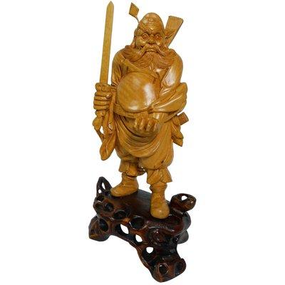大陸溫州早期黃楊木雕刻品-驅魔真君鍾馗帝君1入 (B-102-06) 免運費