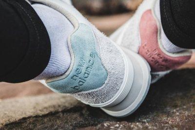 南 New Balance 574 淺灰 麂皮 陰陽 復古 男女鞋 ML574OR 鴛鴦 灰色 綠粉色 許光漢