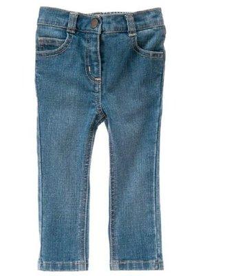 ~雲朵屋~全新現貨Crazy8官網正品(GYMBOREE副牌) 女童Straight牛仔褲 長褲 2T