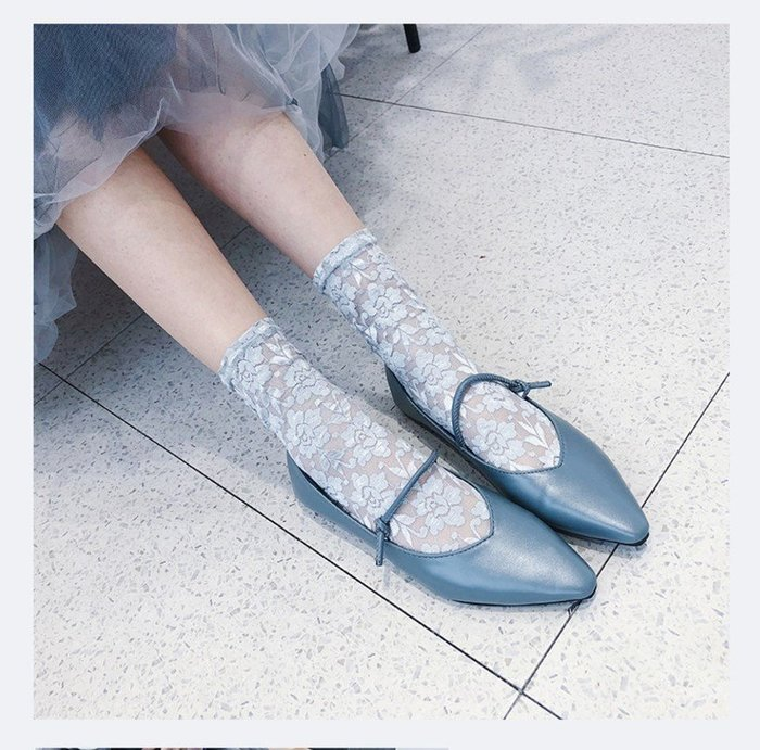 *╮S.water shop╭* 復古簍空 蕾絲/皮鞋襪/涼鞋襪 FN#00294-4 共5色 (現貨)