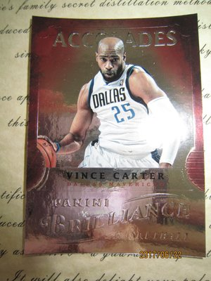 新賣家~12/13~Vince Carter~ACCOLADES~BRILLIANCE~沒限量~10 1元起標