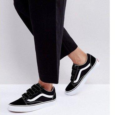 VANS Old Skool 黑白 白線 休閒 帆布 麂皮 基本款 魔鬼氈 百搭 滑板 男女鞋 VN0A3D29OIU