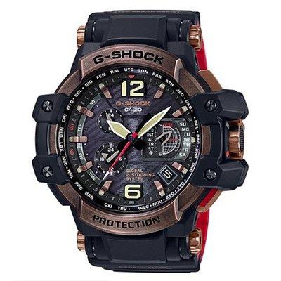 G-SHOCK世界首款同步搭載高性能GPS電波錶(GPW-1000RG-1)玫瑰金框/56mm