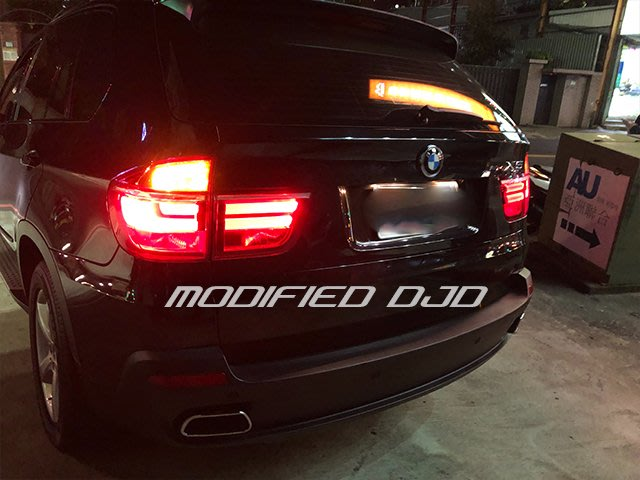 DJD19091201 BMW E70 X5 LED 導光住尾燈 後燈 光導 07 08 09 10 11 改新款寶馬