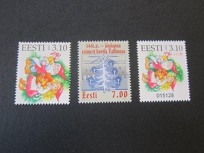 【雲品】愛沙尼亞Estonia 1999 Sc 383-84A sets(3) MNH 庫號#77028