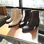 947 允熙的日常  超軟小牛皮方頭跟靴 內外全真皮 低跟靴   MIT台灣手工鞋 丹妮鞋屋 加大尺碼