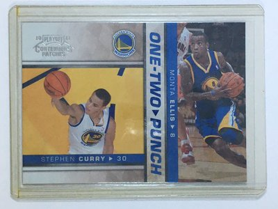 2010-11 Playoff Contenders Patches Stephen Curry Monta Ellis