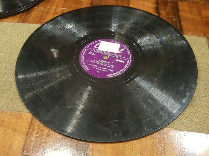 【卡卡頌 歐洲跳蚤市場/歐洲古董】荷蘭Capitol_Les Paul and Mary Ford 78轉十吋黑膠