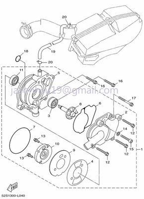 【車輪屋】YAMAHA 山葉原廠零件 FORCE 155 冷卻泵浦 散熱器 油箱 周邊相關零件 歡迎詢價