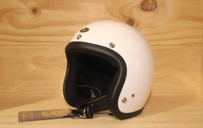 (I LOVE樂多)BUCO METALELAKE 亮光白色4/3復古安全帽(史上最悠久經典的安全帽品牌)
