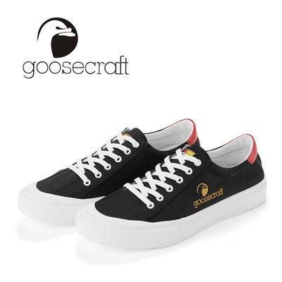 川上潮流Goose craft新品男鞋低幫彈力布大鵝系帶布鞋 輕奢品牌男士休閒鞋