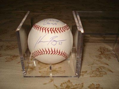 MLB 1997 世界大賽冠軍  ACE #27 KEVIN BROWN 親筆簽名球