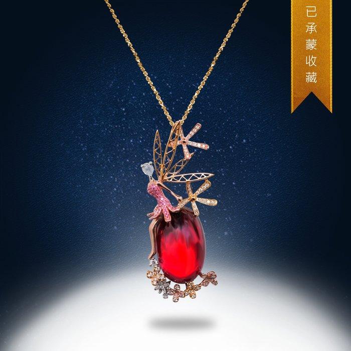 【高品珠寶】首席設計師系列作品-Flower In The Air-輕盈飛揚的花朵綻放在空氣中-8月