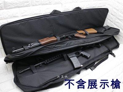台南 武星級 台製 120cm 雙槍袋 ( 槍盒槍箱槍包槍套槍袋步槍卡賓槍衝鋒槍散彈槍長槍袋BB槍狙擊槍98K M4