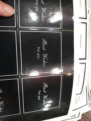 韓版大四方乾花束--貼紙封口貼--8枚15元