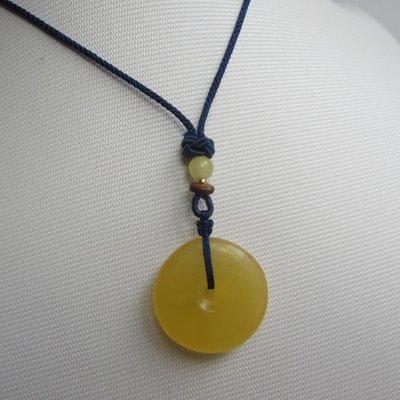 菩提雅尚飾品珍玩 年前優惠價/天然蜜蠟/雞油黃蜜蠟平安扣吊墜  顏色潤黃