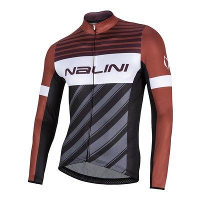 全新 公司貨 義大利 NALINI MIZAR 男款長袖車衣 快乾刷毛材質 紅黑色