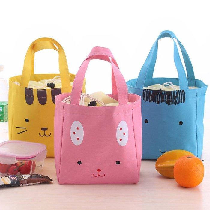艾莉小舖  可愛卡通便當包飯盒袋韓國創意動物午餐包保溫袋 保冰袋手拎包