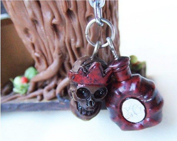 ☆創意小物店☆ 骷髏頭 鑰匙圈 造型個性飾品