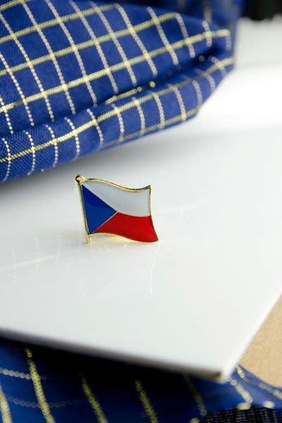 【國旗徽章達人】捷克國旗徽章/國家/胸章/別針/胸針/Czechia/超過50國圖案可選