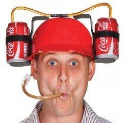 Drinking Hard Hat 飲料帽 可樂帽 懶人必備 汽水頭盔 飲料安全帽