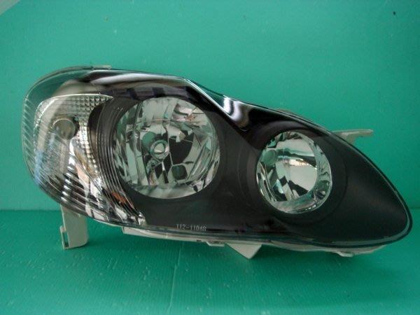 ☆小傑車燈家族☆全新優質 ALTIS 01-07 9代 黑框大燈一組2200元.代改4光圈加2000元