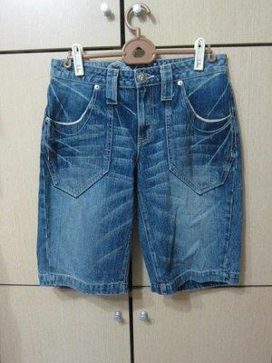 衣市藍~BIG TRAIN 高橋 牛仔短褲 (M~七成新~) (200420-1)
