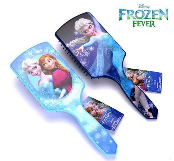 冰雪奇緣氣墊梳子大板按摩特寬氣囊梳子兒童防靜電  中