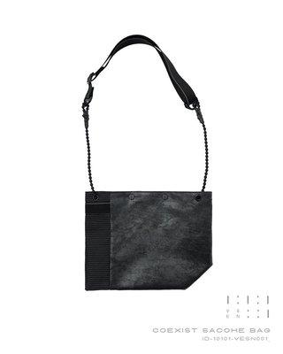 { POISON } INCODER COEXIST SACOCHE BAG 共存雙面拼接小包 隨身小包