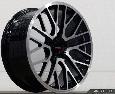 全新 ASGA ARF08 19吋旋壓鋁圈 黑底車面 5孔114.3 5孔112 *完工價*