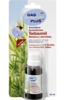 德國 Dm 100%澳洲純有機栽種茶樹精油 30ml*2 (=60ml) Australisches Teebaumöl