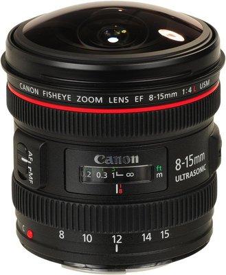 @3C 柑仔店@ Canon EF 8-15mm F4ㄒL Fisheye USM 魚眼鏡頭 平行輸入 店保一年