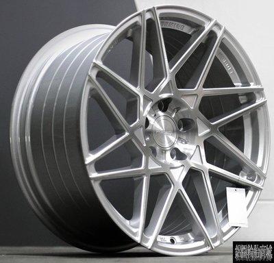 全新鋁圈 ASGA ARF03 旋壓輕量化 銀底髮絲車面 19吋 5孔 112/114.3/120/108 前後配 完工