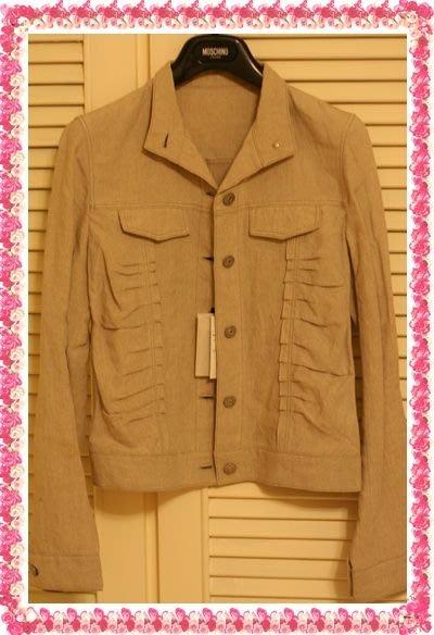 全新吊牌COMME CA DU MODE 旗下設計師【KIYOKO TAKASE】亞麻荷葉邊飾立領外套